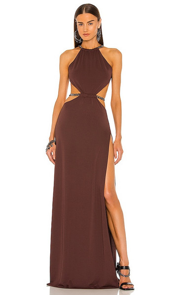 DUNDAS x REVOLVE Moon Maxi Dress in Chocolate in brown