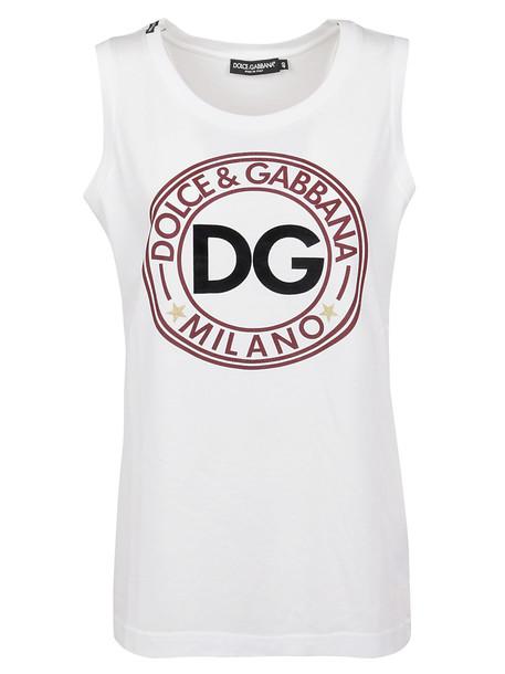 Dolce & Gabbana Short Sleeve T-Shirt in bianco