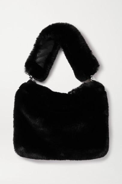 Stand Studio - Luna Faux Fur Shoulder Bag - Black