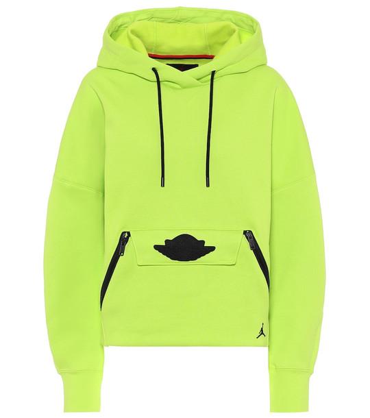 Nike Jordan cotton-blend hoodie in yellow