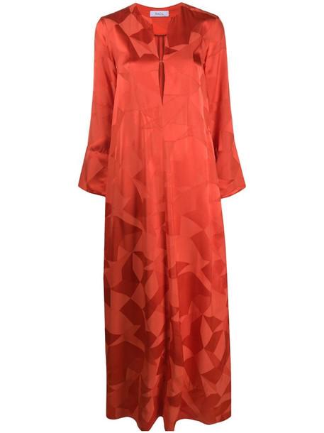 Racil v-neck maxi dress in orange