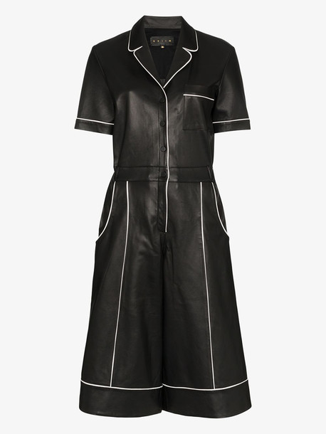 Skiim Fiona leather jumpsuit in black