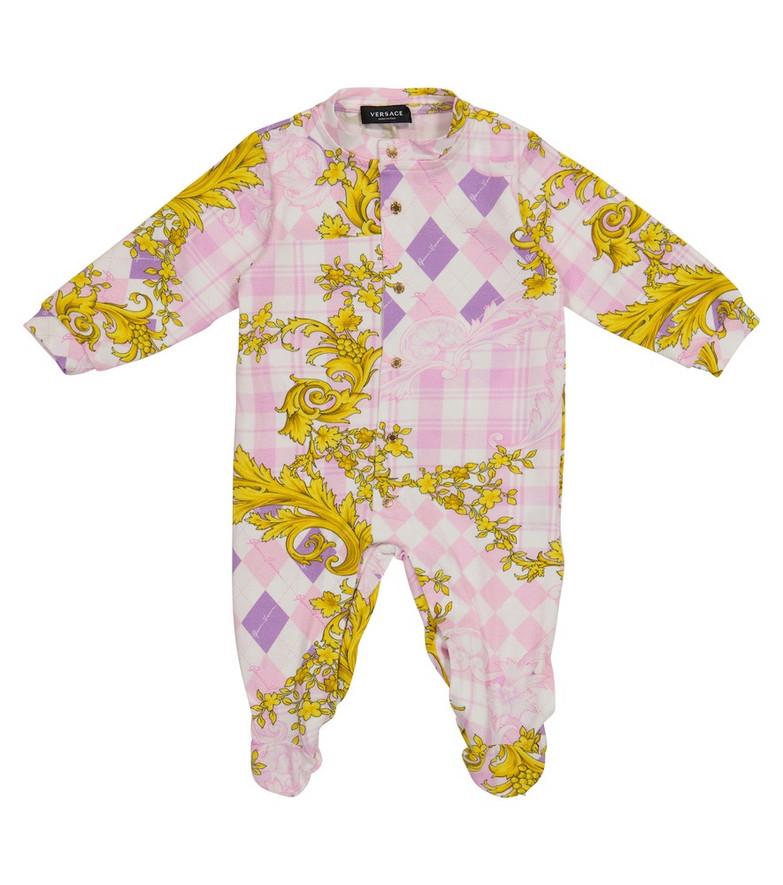Versace Kids Baby Acanthus stretch-cotton bodysuit