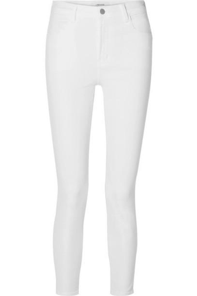J Brand - Alana Cropped High-rise Skinny Jeans - White