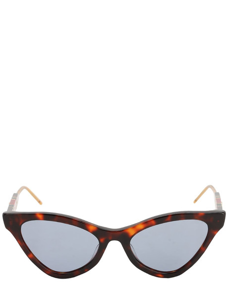GUCCI Sophisticated Web Acetate Sunglasses in blue