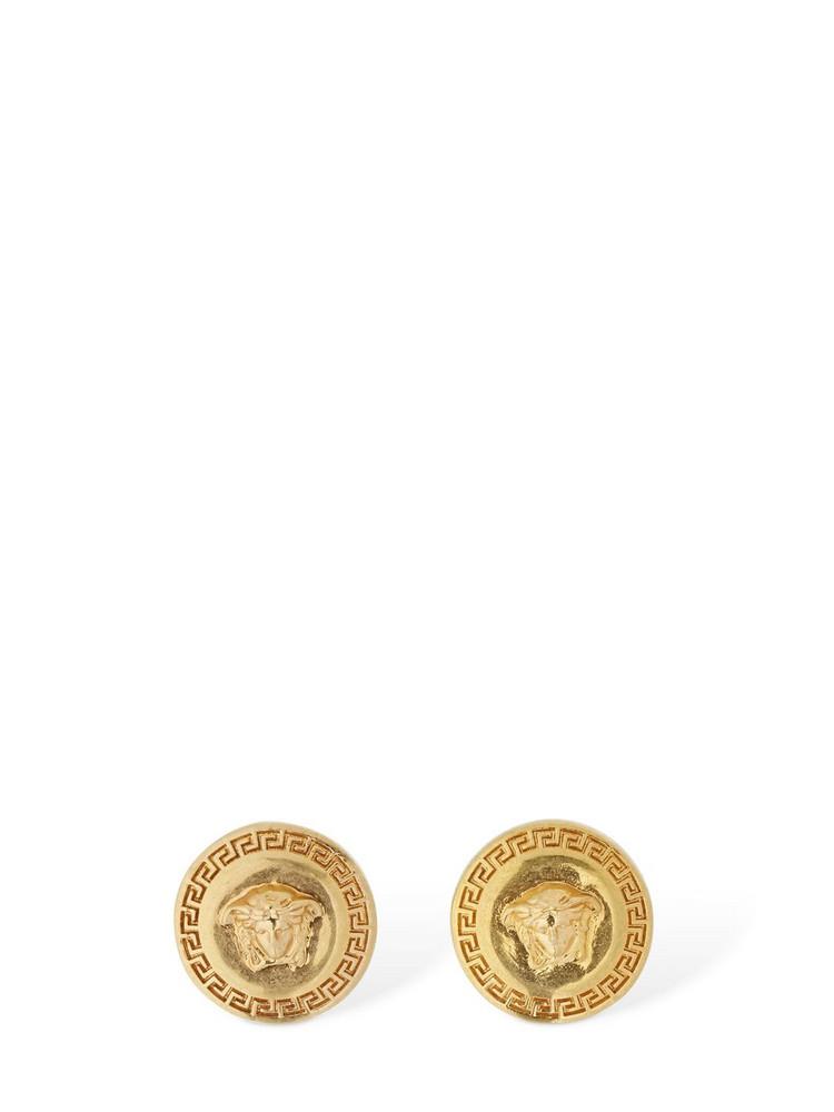 VERSACE Small Tribute Medusa Stud Earrings in gold