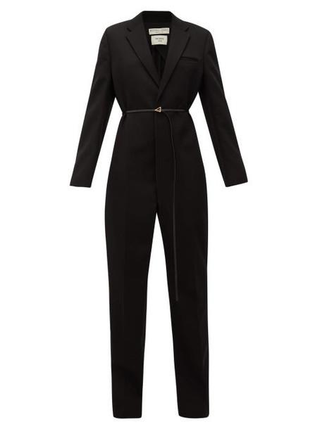 Bottega Veneta - Notch-lapel Wool Tuxedo Jumpsuit - Womens - Black