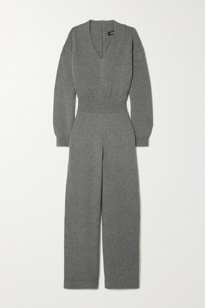 Theory - Wool And Cashmere-blend Jumpsuit - Gray