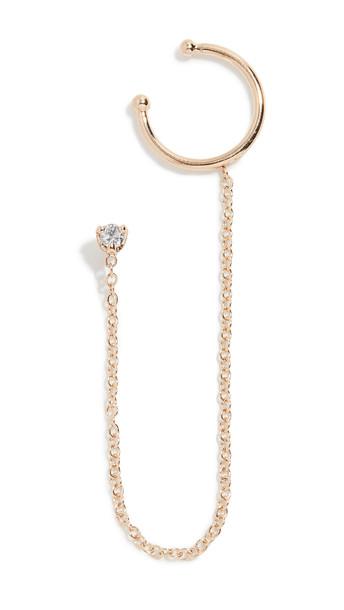 Zoe Chicco 14k Gold Diamond Stud With Wire Ear Cuff