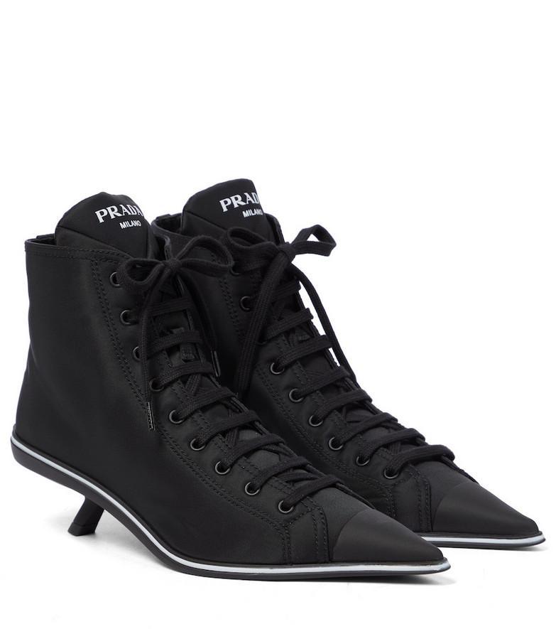 Prada Nylon ankle boots in black