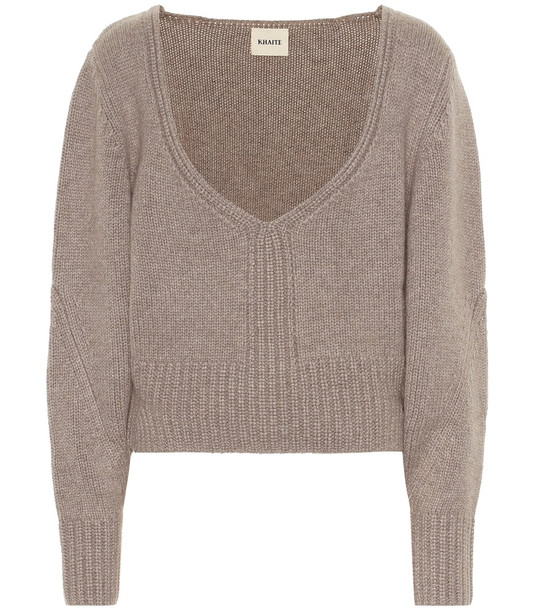 Khaite Charlette cashmere sweater in brown