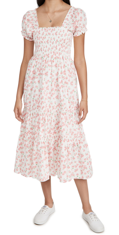 OPT Daphne Dress in white / print