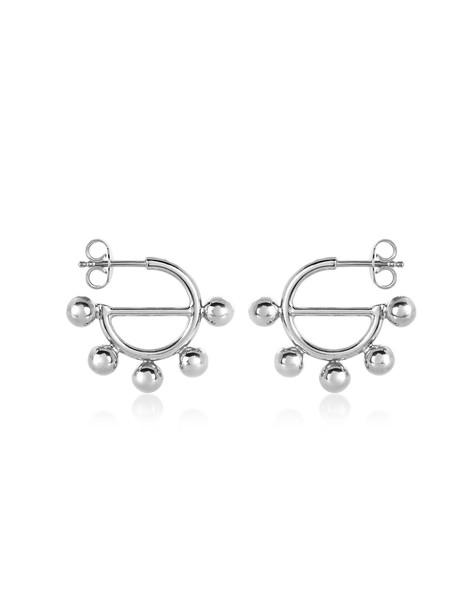 J.W. Anderson Jw Anderson Disc Mini Hoop Earrings in silver