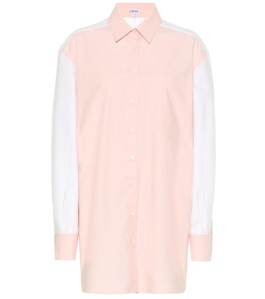 Loewe Cotton shirt in pink