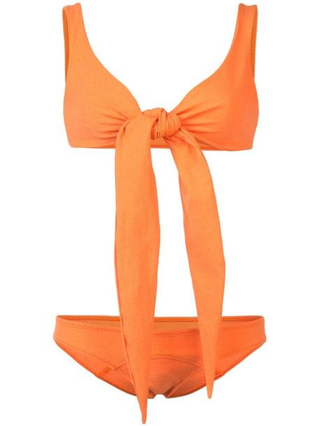 Lisa Marie Fernandez wrap bikini in yellow