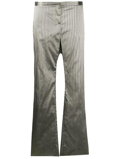Romeo Gigli Pre-Owned 1990s metallic pinstripe trousers in grey