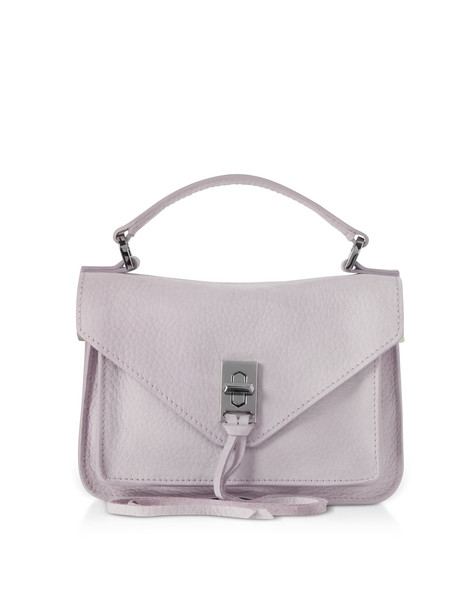 Rebecca Minkoff Nubuck Leather Mini Darren Messenger Bag in lilac