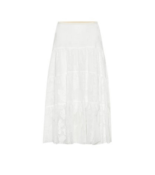 See By Chloé Embroidered midi skirt in white