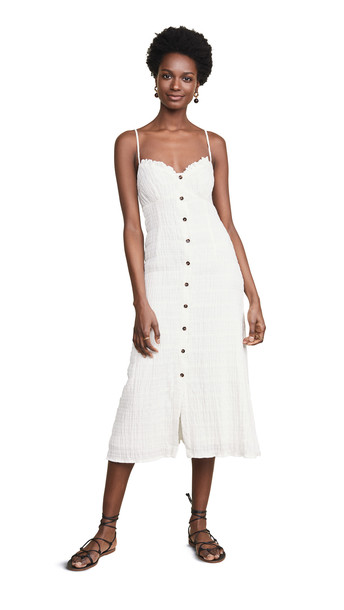 leRumi Lyra Midi Dress in white