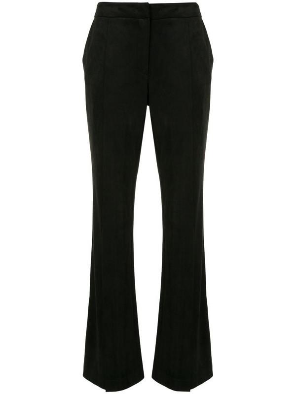 Goen.J flared high-rise trousers in black