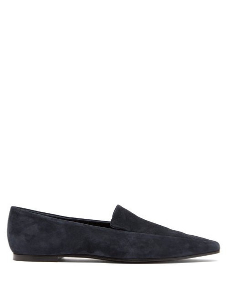 The Row - Minimal Suede Loafers - Womens - Blue