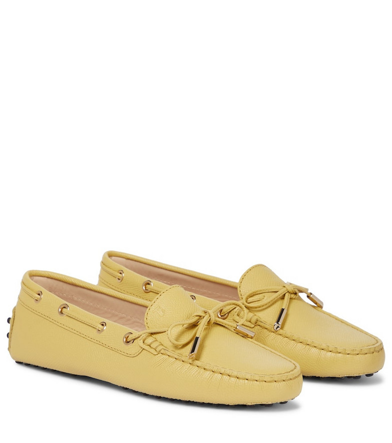 Tod's Gommino suede loafers in yellow