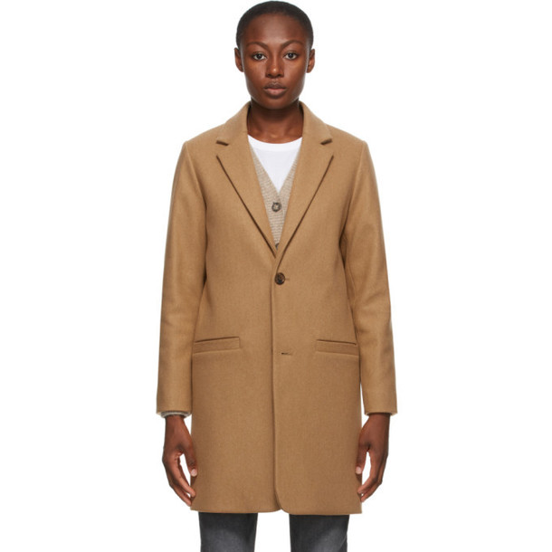 A.P.C. A.P.C. Beige Wool Carver Coat
