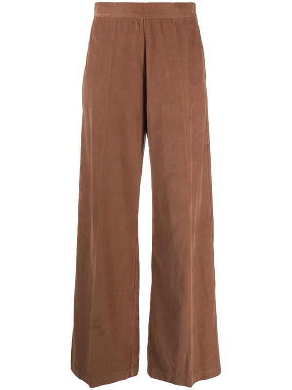 Semicouture high-waisted corduroy trousers in brown