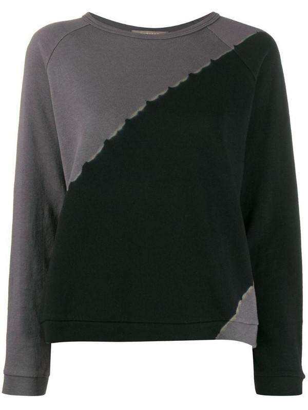 Suzusan tie-dye two-tone sweatshirt in black