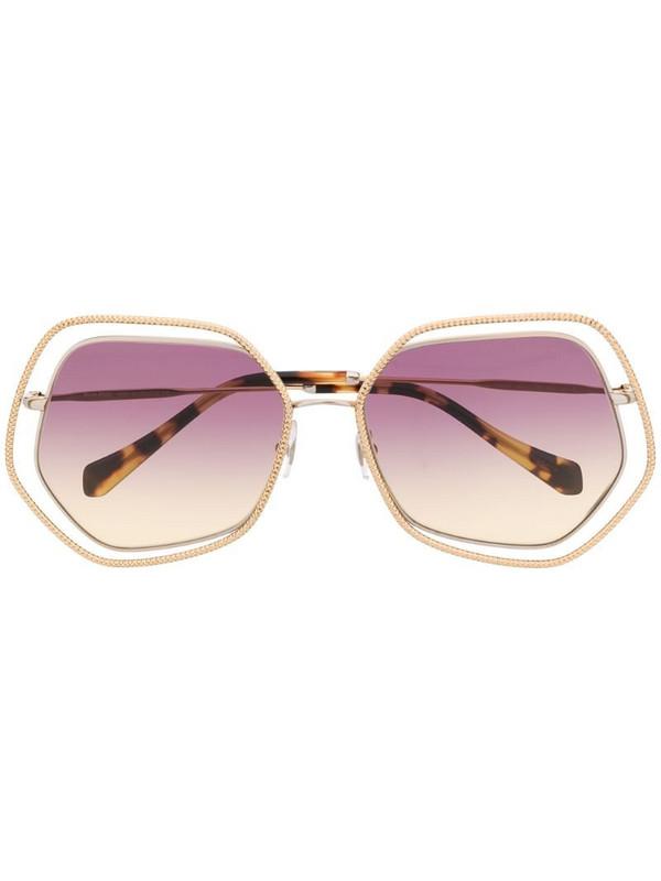 Miu Miu Eyewear La Mondaine sunglasses in gold