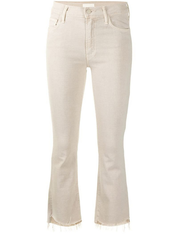 Mother The Insider cropped jeans in neutrals