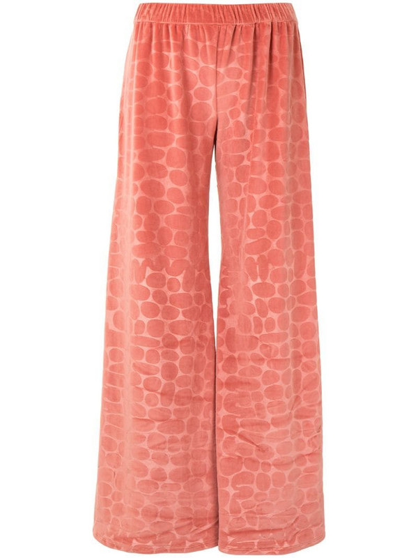 Alexis Reman printed trousers in pink