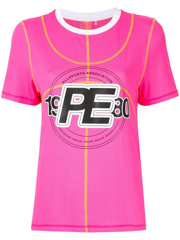 P.E Nation Double Dribble T-shirt in pink