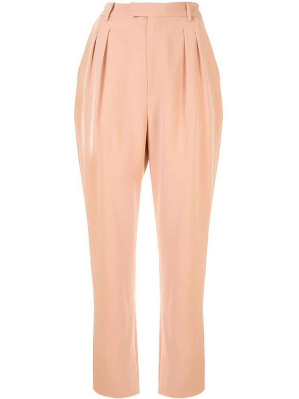 LAPOINTE matte crepe trousers in pink