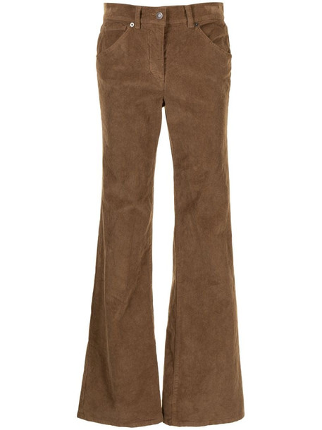 Nili Lotan Bradford flared trousers in brown