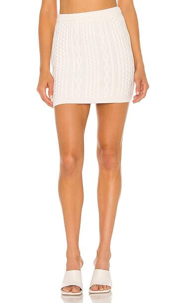 Alice + Olivia Alice + Olivia Ingrid Cable Mini Skirt in White