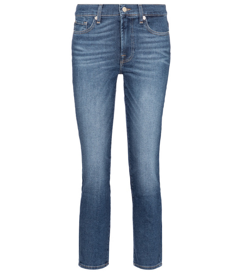 7 For All Mankind Roxanne mid-rise slim jeans in blue