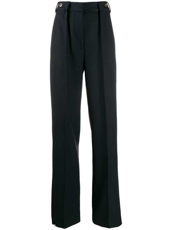 Cédric Charlier high-rise pleated trousers in blue