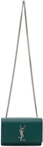 Saint Laurent Green Small Kate Chain Bag