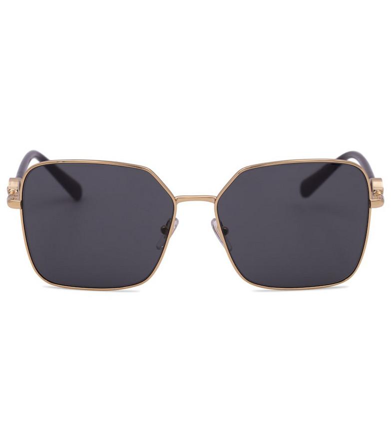 Versace Logo square sunglasses in gold