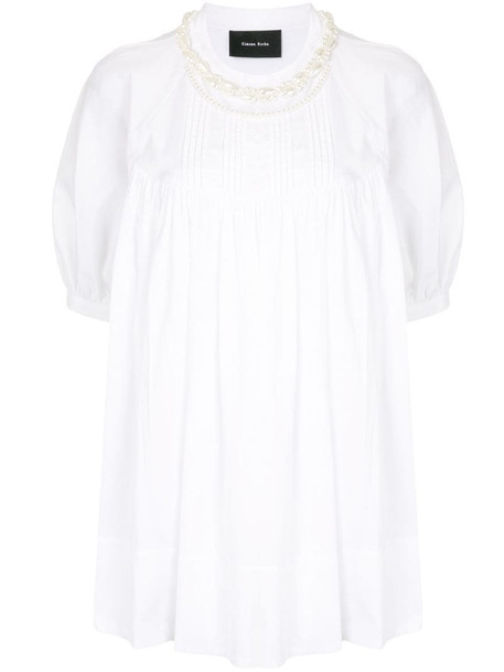 Simone Rocha pearl-embellished blouse in white