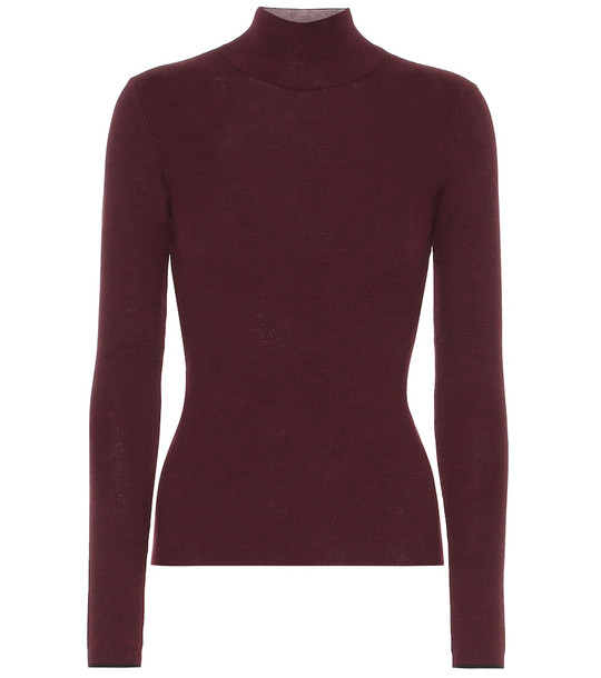 Ernest Leoty Margaux wool sweater in red