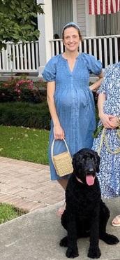 dress,blue,ruffle,vneck dress,button up