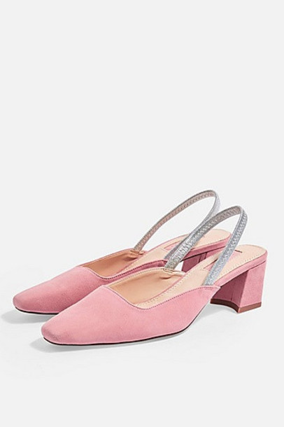 TopShop JEWELER Slingback Shoes - Pink