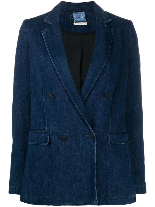 Forte Forte double-breasted denim blazer in blue