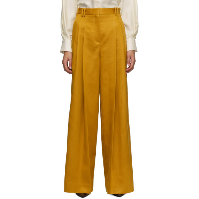 Partow Yellow Wren Trousers in saffron