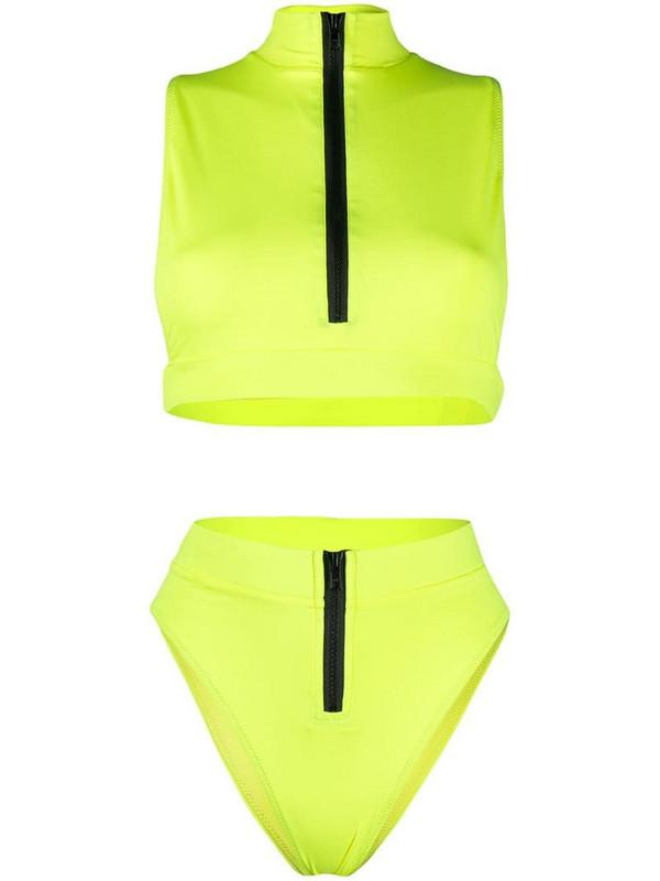 Noire Swimwear Malibu high-waist bikini in yellow