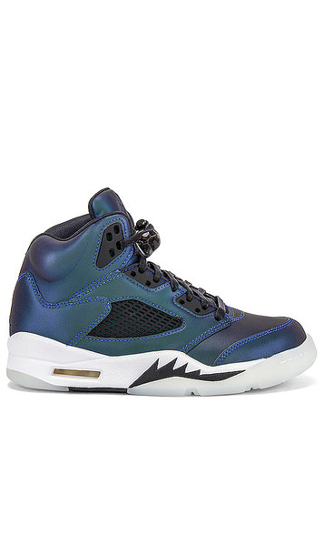 Jordan Air Jordan 5 Retro Sneaker in Blue,Black