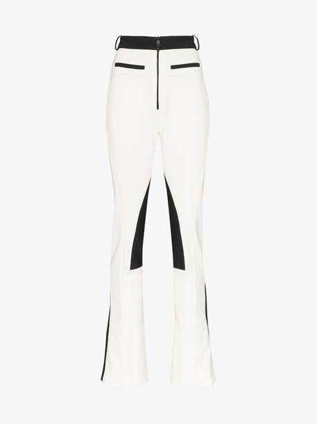 Mugler colour block zip cuff skinny trousers in white