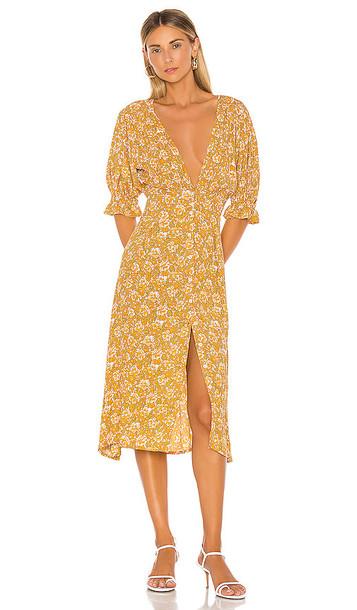 FAITHFULL THE BRAND Rafa Dress in Mustard